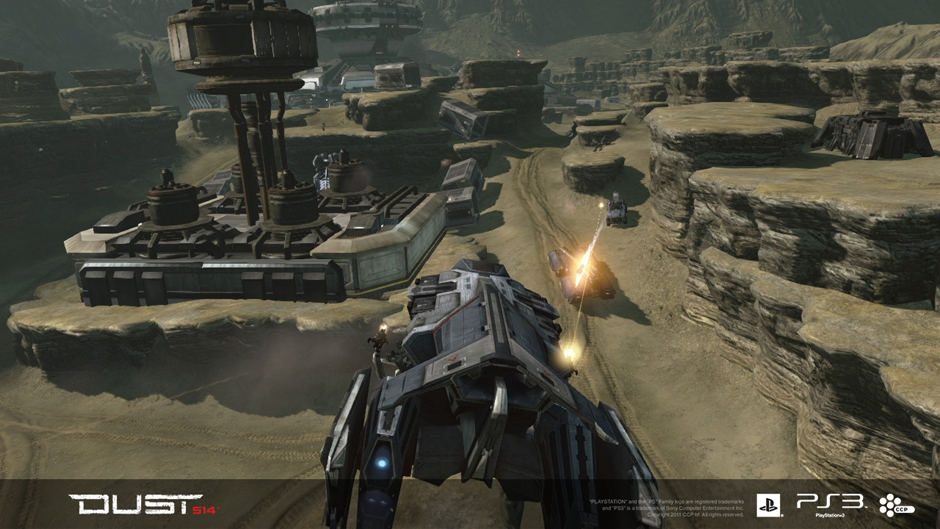 In game screenshot of a Caldari Dropship vehicle