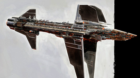 Concept art piece for the Maelstrom battleship
