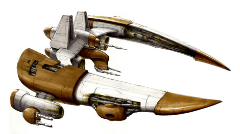 Concept art piece for the Executioner frigate