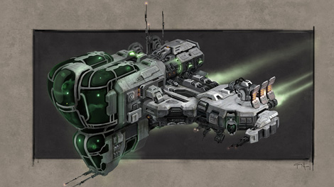 Concept art piece for the Echelon frigate