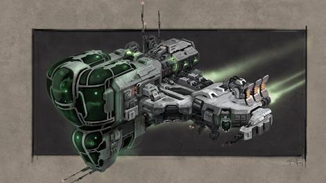 Concept art piece for the Echelon frigate