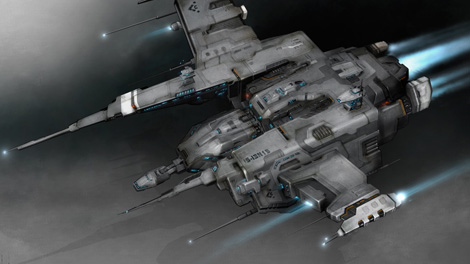Concept art piece for the 2011 Raven battleship