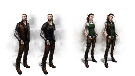 Concept art piece for 2011 Minmatar characters