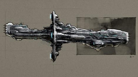 Concept art piece for the Hyperion battleship