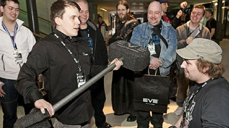 CCP Guard handing over the Banhammer to a Fanfest attendee.