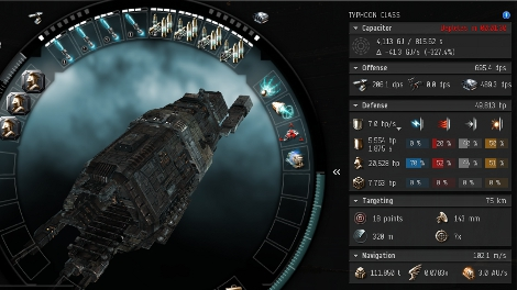 Tech One Ship Fitting Interface