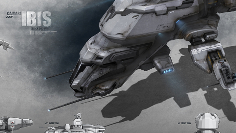 Concept art piece for the updated Ibis rookie ship