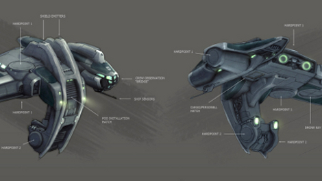 Velator Rookie Ship concept art