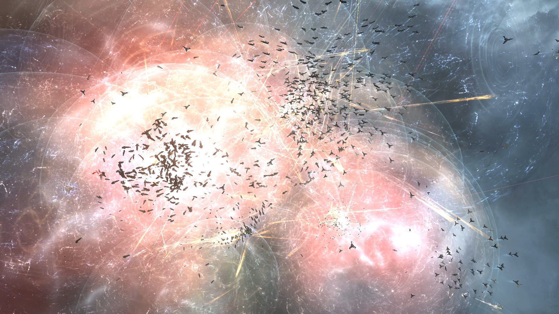 A massive Battleship fleet assaults the Keepstar
