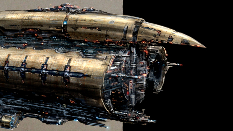 Concept art piece for the Abaddon battleship.