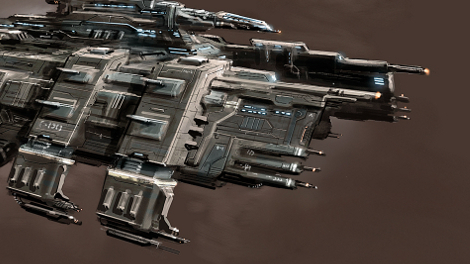 Concept art of Drake battlecruiser.