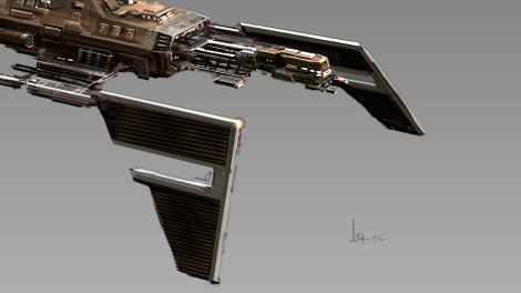 Concept art of Scythe cruiser.