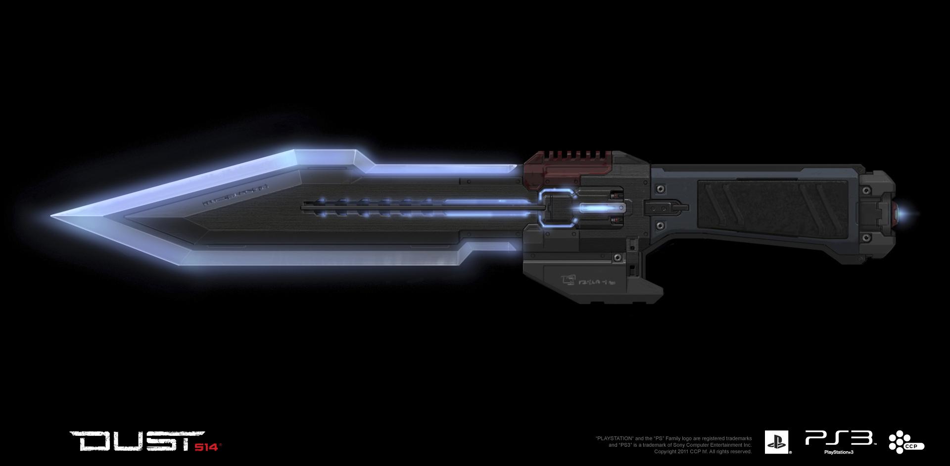 Caldari ZN 28 Nova Knife  Concept Art DUST 514